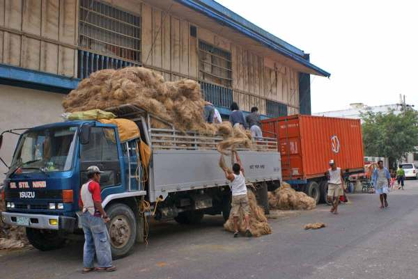 Abaca being loaded at the port of Iloilo City