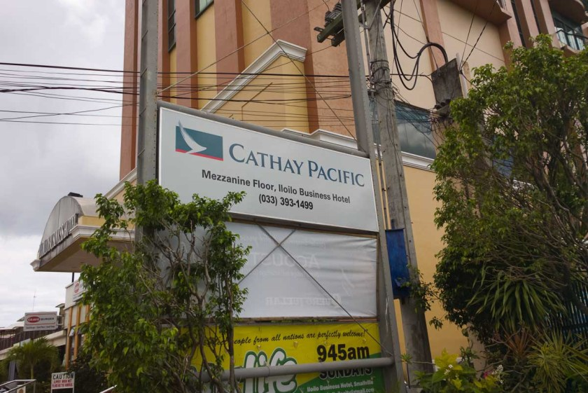 Cathay Pacific ticketing office, Iloilo City