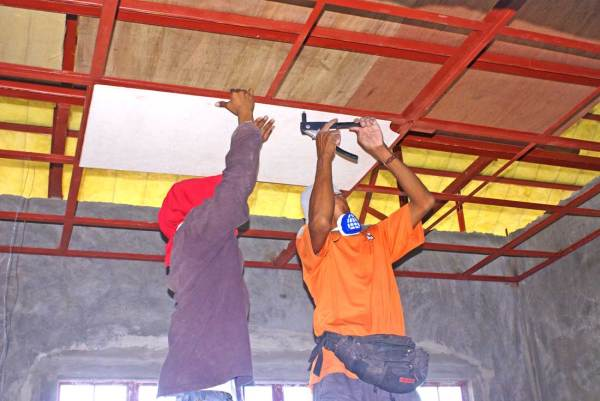 Our Philippine House Project - Ceiling Support System and ...