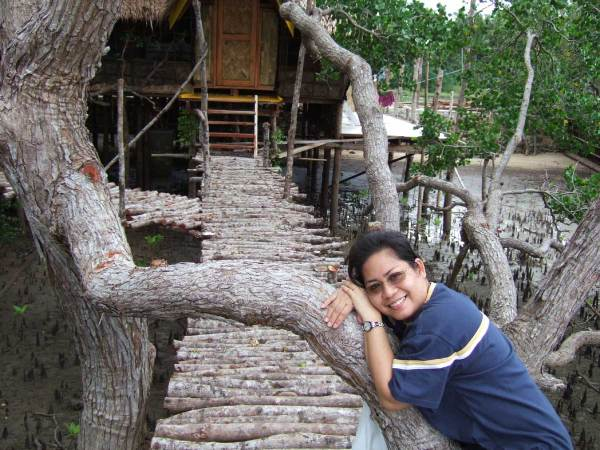 Carol embraces mangrove restoration, Guimaras Island, Philippines