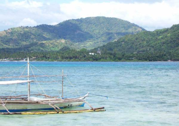 St. John de Nepomuceno Church in Anini-y from Nogas Island, Antique Province, Philippines