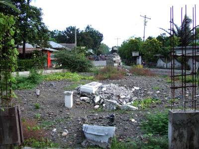 Site of former Parara war memorial - September 2009