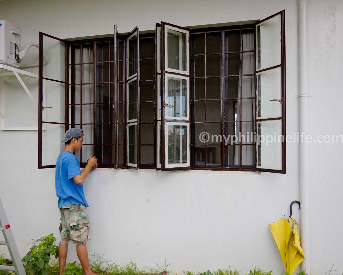 Our philippine house project windows my philippine life for Window grills design in the philippines