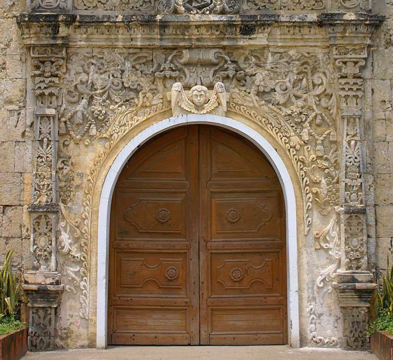 Tigbauan Church Entrance - Doorway