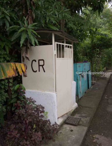Public restroom (CR) and recycling bins, Tigbauan