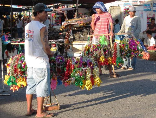 Christmas decorations for sale, Tigbauan Iloilo