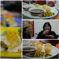 pani puri eating