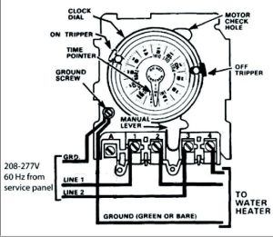 Need help wiring an Intermatic WH40 water heater time
