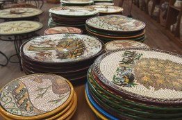 Finished Plates Displayed in the shop
