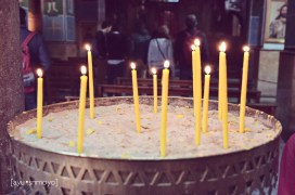 burn your candles, st george, madaba