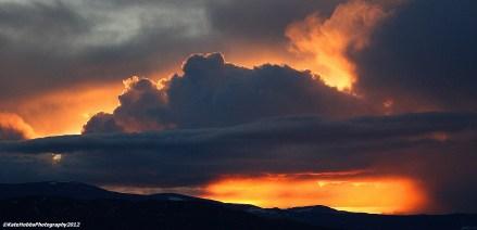 Sunset, 5th April - 2012