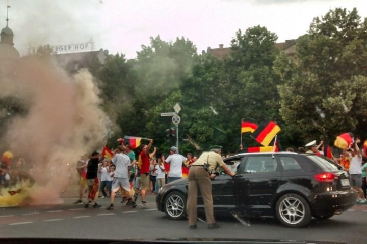 Bamberg nach dem WM Spiel 2014