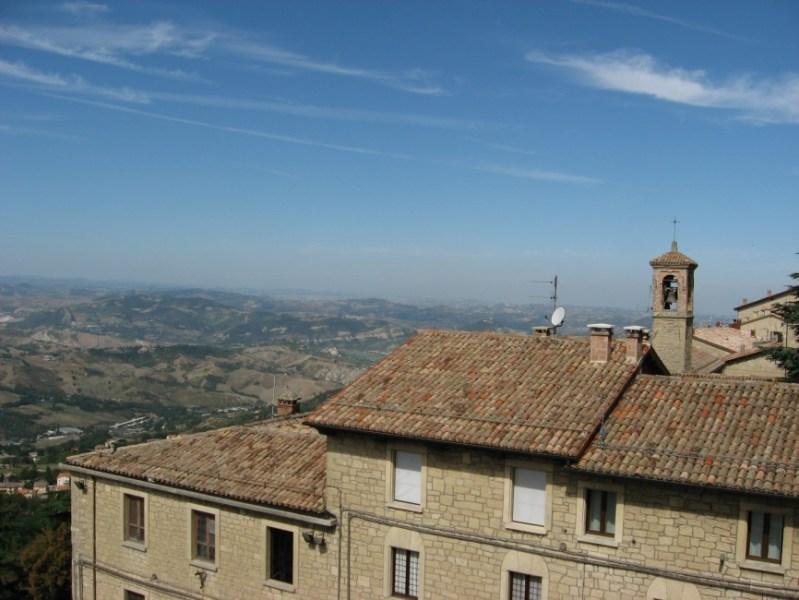 Aussicht von San Marino auf Region Emilia Romagna