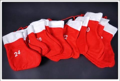 große Socken Adventskalender