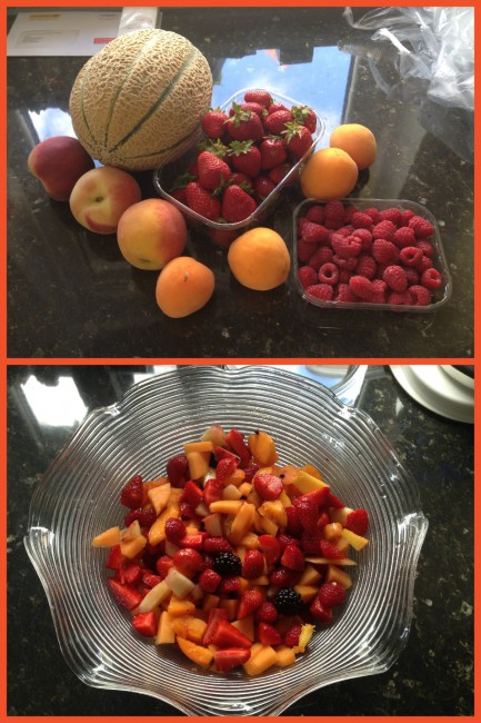 Roter Obstsalat einmal anders