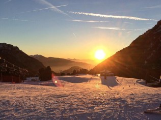 Sunset Latemar Skicenter