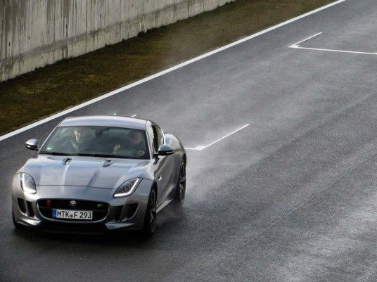 Jaguar F-Type R in action