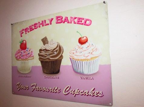 Blechschild Capcakes