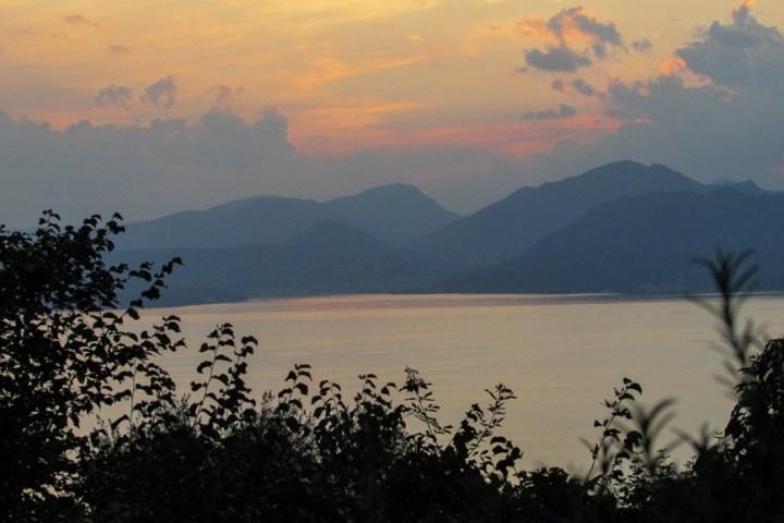 Gardasee Ausblick Trattoria agli Olivi