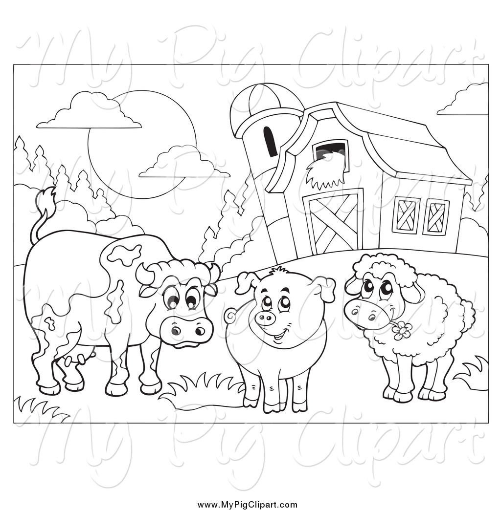 Royalty Free Black And White Stock Pig Designs