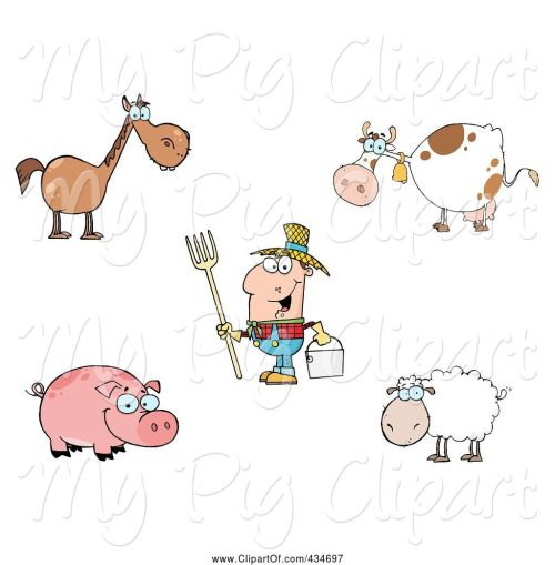 small resolution of swine clipart of cartoon digital collage of farm animals and a farmer