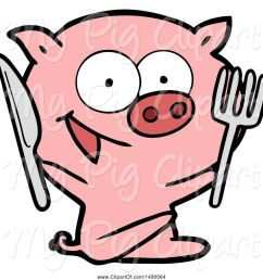 swine clipart of cheerful sitting pig [ 1024 x 1044 Pixel ]