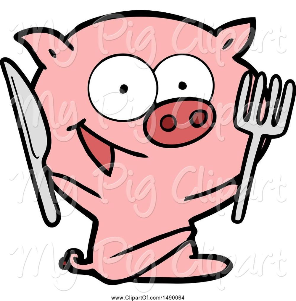 medium resolution of swine clipart of cheerful sitting pig
