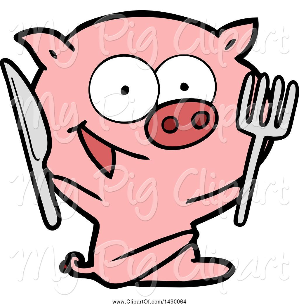 hight resolution of swine clipart of cheerful sitting pig