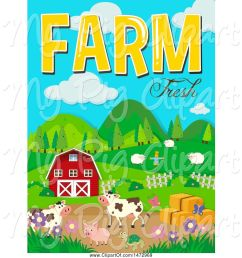 swine clipart of group of farm animals and farm fresh text [ 1024 x 1044 Pixel ]