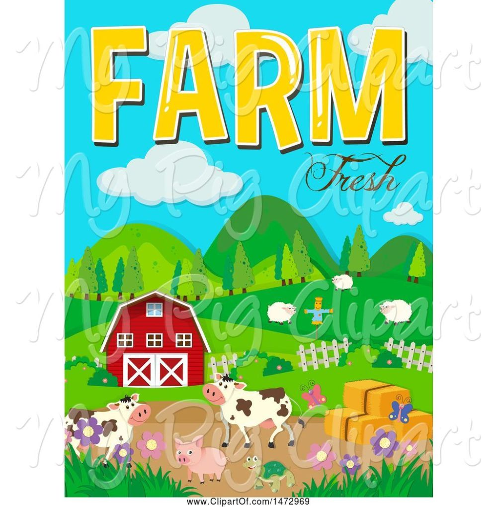 medium resolution of swine clipart of group of farm animals and farm fresh text