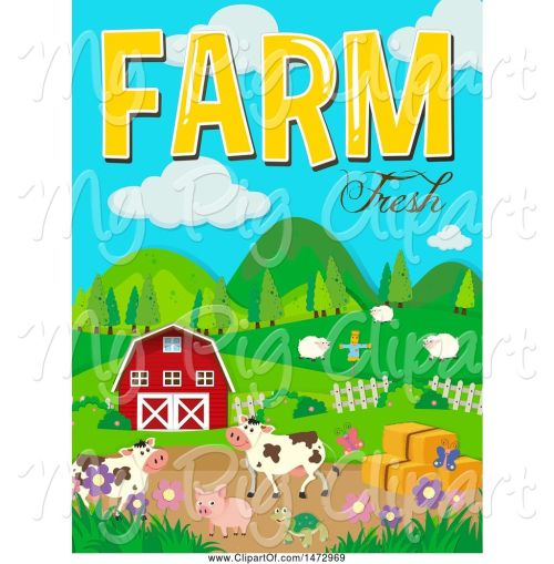 small resolution of swine clipart of group of farm animals and farm fresh text