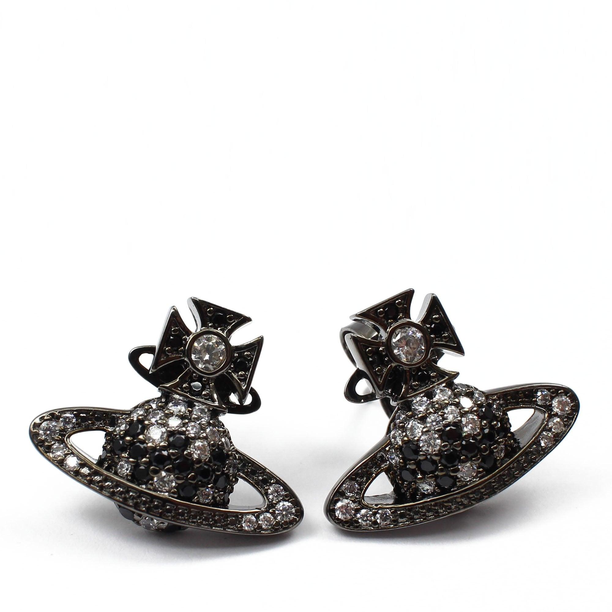 Vivienne Westwood Virginia Bas Relief Black Earrings Womens From Pilot Uk
