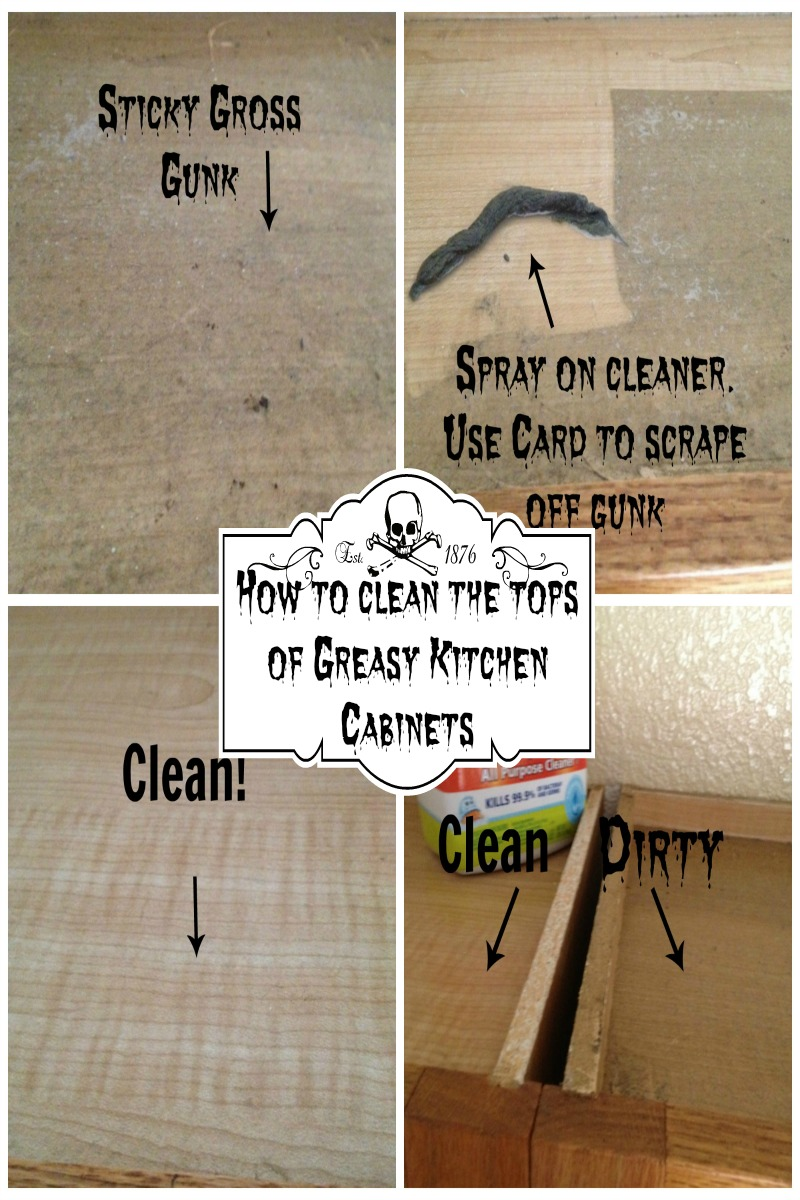 kitchen cabinet cleaner recipe hanging lights over island how to clean the tops of greasy cabinets secret tip my