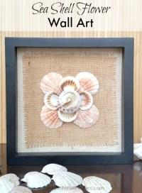 DIY Seashell Flower Wall Art | My Pinterventures