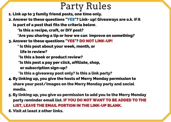 Merry Monday Party Rules