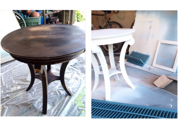 Thirty to Nifty Chalk Paint Table