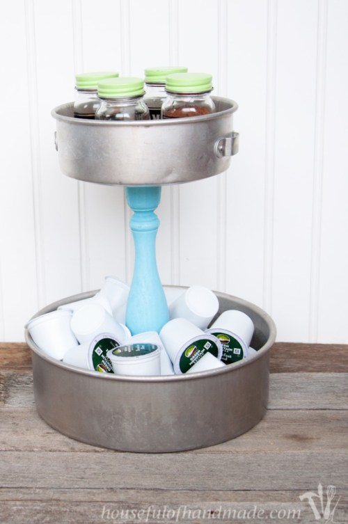 DIY Rustic K-cup Holder
