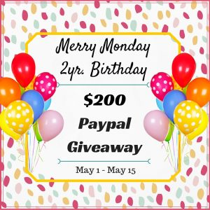 Merry Monday Link Party $200 Cash Giveaway