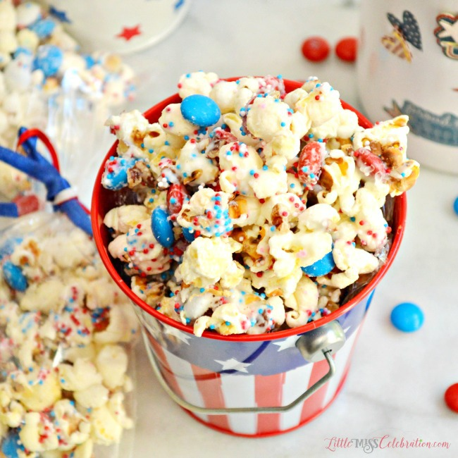 Sweet-n-salty patriotic popcorn