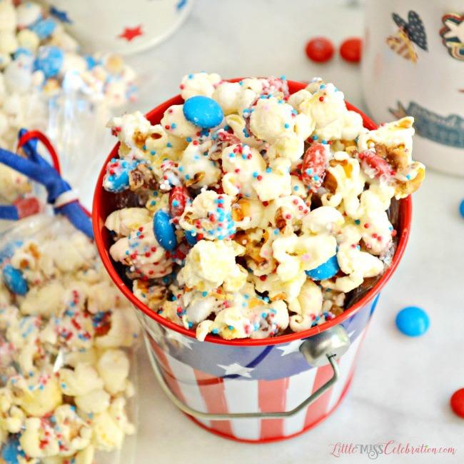 Sweet-n-salty patriotic popcorn