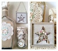 Mini Coastal Seashell Star Wall Art + Ornament Tutorial