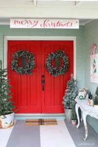 10 Christmas Front Door Decor Ideas - Day 11 12 Days of ...