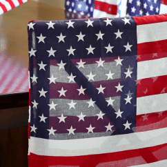 Dining Chair Covers In Store Swing Interior Patriotic Flag Under 30 Minute Dollar Craft