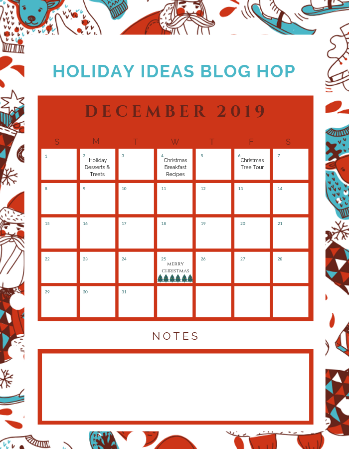 December Holiday Ideas Blog Hop Calendar