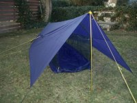The ultimate in a light weight simple tent, with the ...