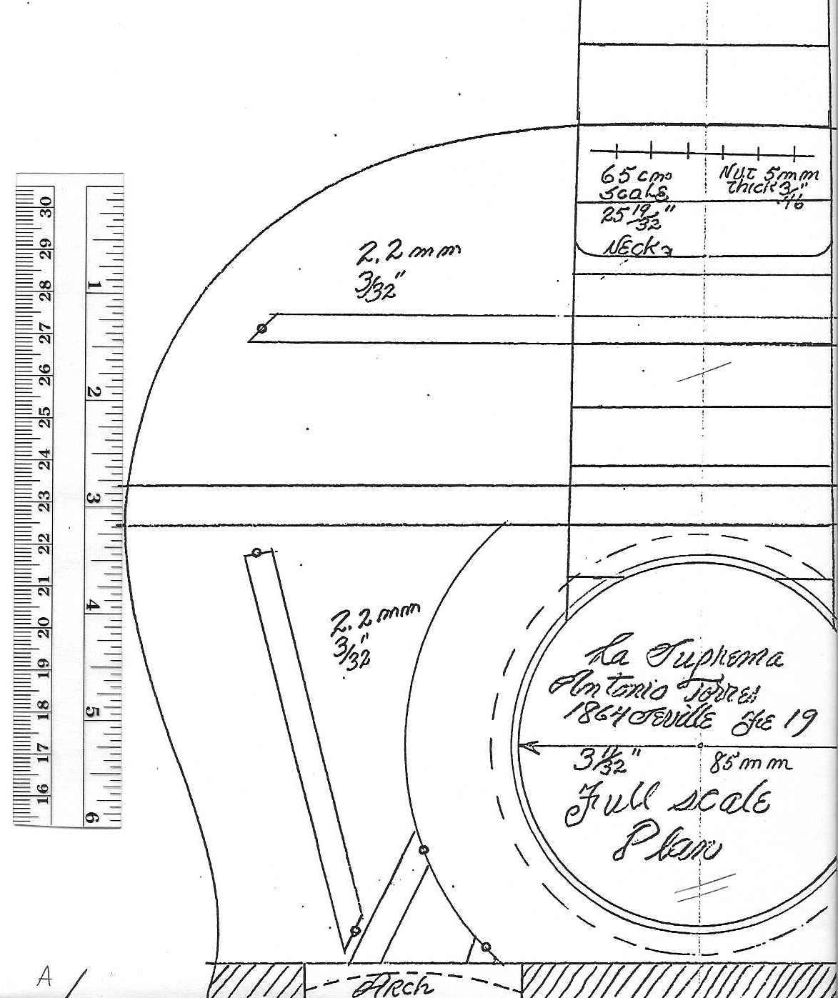 Classical Guitar Headstock Dimensions