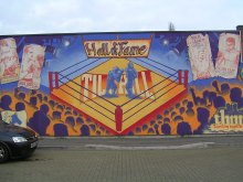 Coventry, UK: murals on the Tile Hill Youth Centre