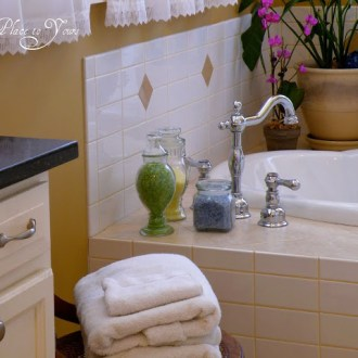 Old House Master Bathroom Renovation: DIAMONDS AND SWIRLS