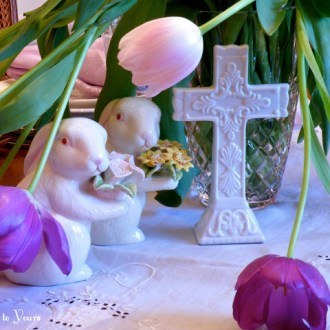 BUNNIES AT THE CROSS: An Offensive Easter Tablescape?