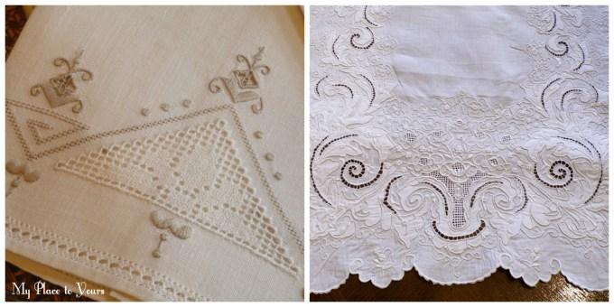Italian embroidery linens